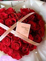 赤バラ ハート 花 フラワーギフト プリザーブドフラワー