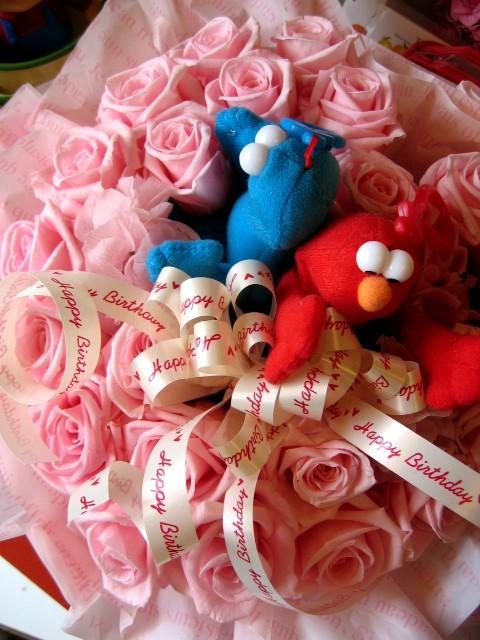 セサミストリート エルモ プレゼント 花 フラワーギフト