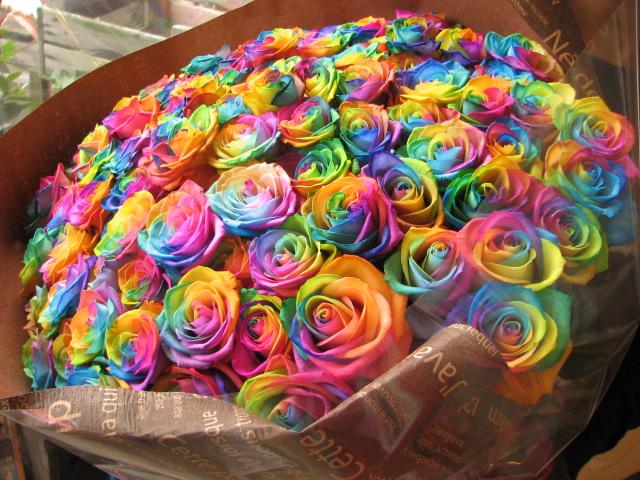 母の日 プレゼント レインボーローズ 花束