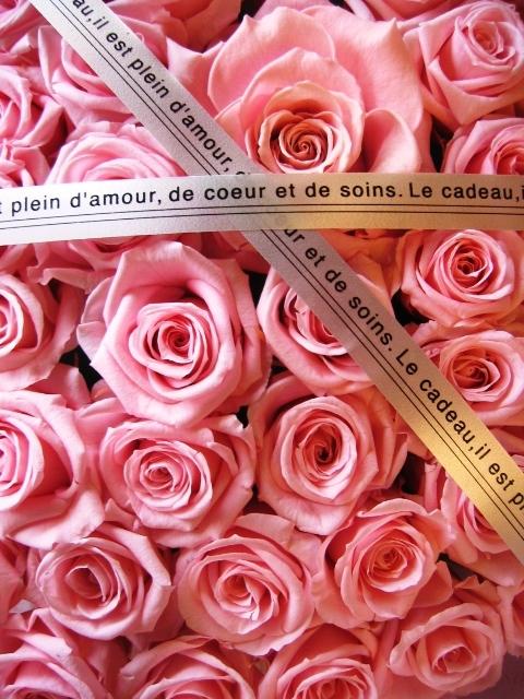 ピンク バラ ハート 花 フラワーギフト プリザーブドフラワー